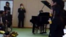 H26年度卒業式 旅立ちの日に 伴奏者は音楽担当教諭