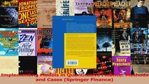 PDF Download  Implementing Models in Quantitative Finance Methods and Cases Springer Finance Read Online