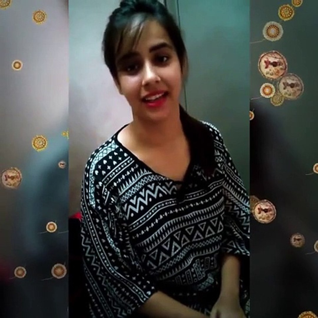 Beautiful girl with a beautiful voice singing Punjabi song