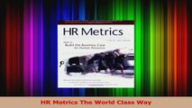 PDF Download  HR Metrics The World Class Way PDF Online