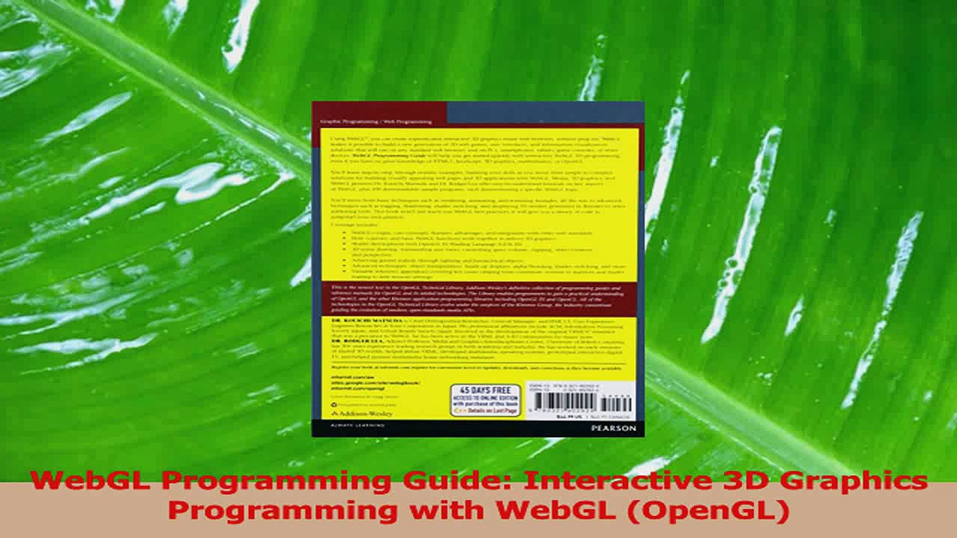 Interactive 3D Graphics Programming with WebGL WebGL Programming Guide