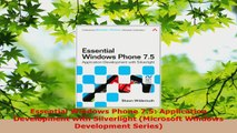 Read  Essential Windows Phone 75 Application Development with Silverlight Microsoft Windows EBooks Online