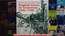 English Towns in Transition 15001700