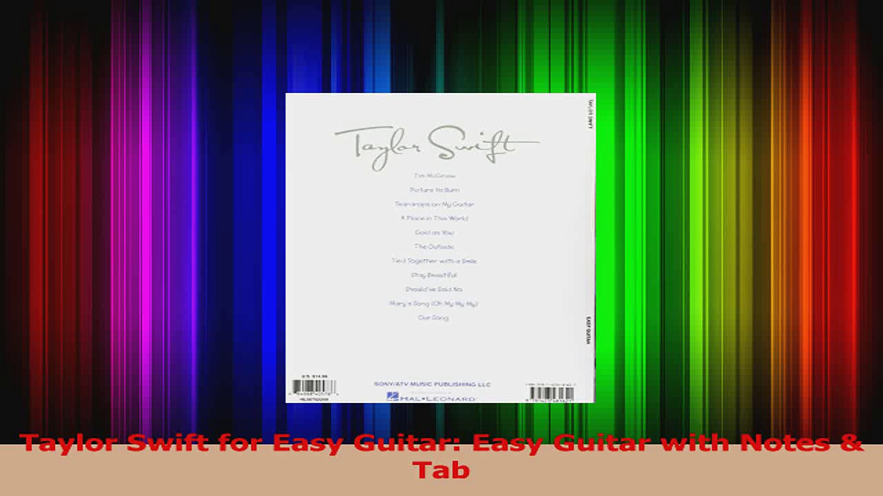 PDF Download  Taylor Swift for Easy Guitar Easy Guitar with Notes  Tab Download Full Ebook