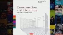 Construction and Detailing for Interior Design Portfolio Skills