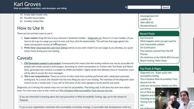 Diagnostic.css un snippet super simple pour tester l'accessibilité de votre site