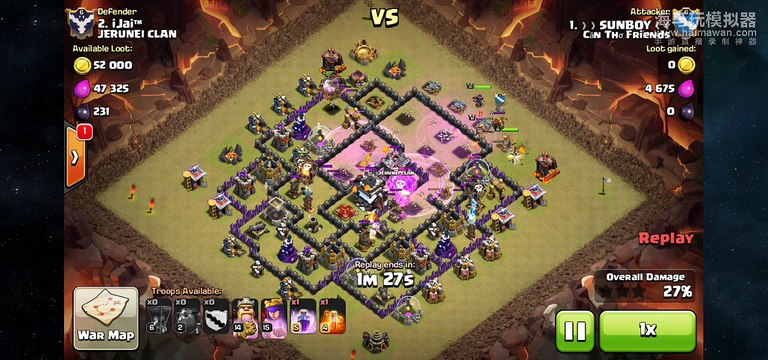 Lavaloon Clash of Clans strategy - Clear hall 9 Replay