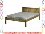 Seconique Maya Distressed Waxed Pine Double Bed Frame