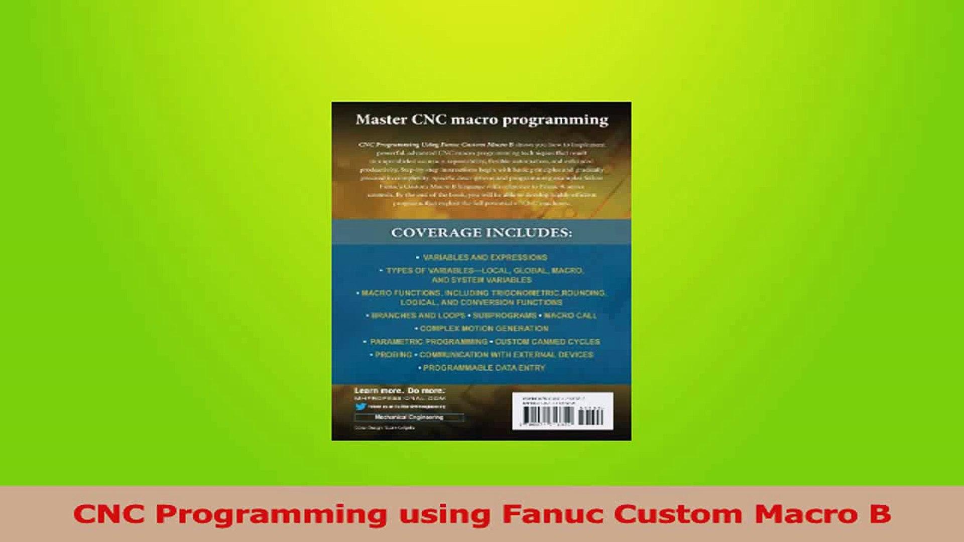 Download CNC Programming using Fanuc Custom Macro B PDF Online