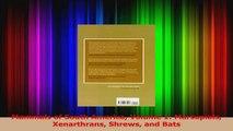 PDF Download  Mammals of South America Volume 1 Marsupials Xenarthrans Shrews and Bats PDF Online