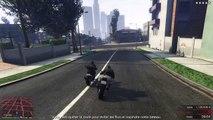 Grand Theft Auto V cascade moto et chute helico