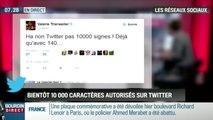 La réponse de Valérie Trierweiler après l'annonce de la fin des 140 signes sur Twitter - ZAPPING ACTU DU 06/01/2016.