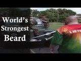 Worlds Heighest Weight Lifting Beard | Guinness World Record