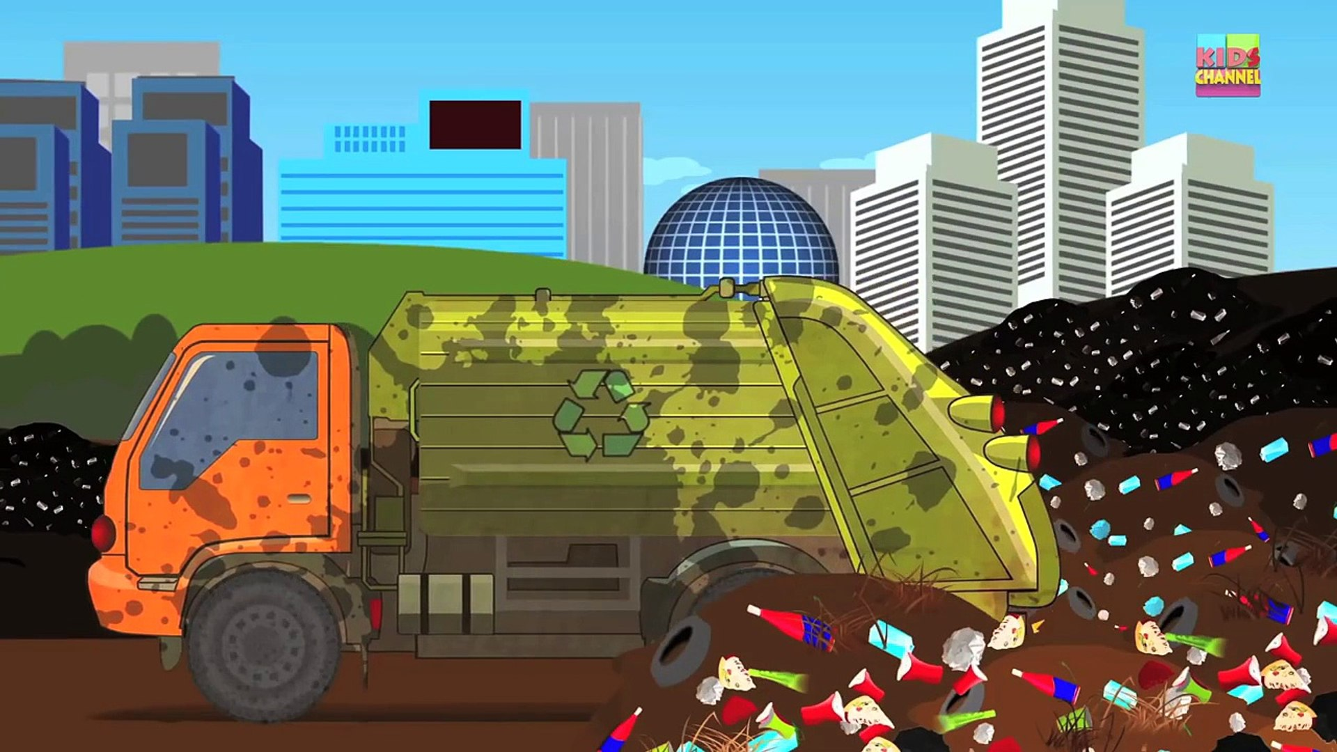 Garbage Truck | Dump Yard | Crusher Machine | Smashing Toys For Toddlers