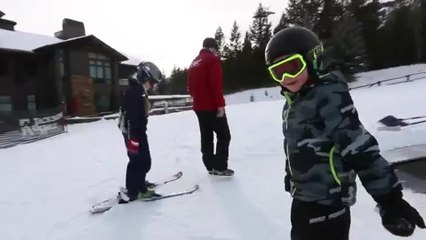 Learning to Ski at Jackson Hole Mountain Resort, Wyoming