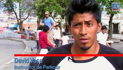 El Parkour se popularizó en las calles de Quito