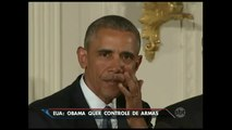 Obama chora ao anunciar medidas para controlar venda de armas nos EUA