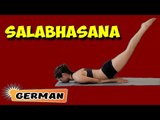 Salabhasana | Yoga für Anfänger | Yoga For Beginners & Tips | About Yoga in German