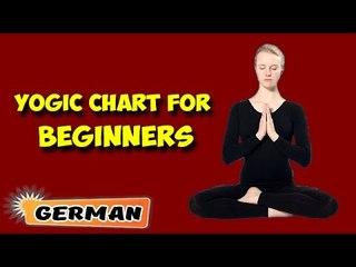 Yoga für Anfänger | Yoga for Beginners | Yogic Chart & Benefits of Asana in German