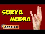Surya Mudra | Yoga für Anfänger | Yoga Mudra To Reduce Excess Fat & Tips | About Yoga in German