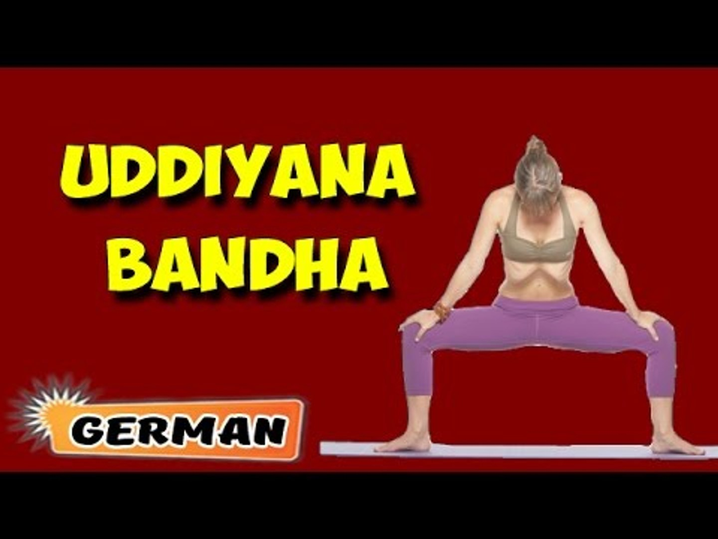 Uddiyana Bandha | Yoga für Anfänger | Yoga For Menstrual Disorders & Tips | About Yoga in German