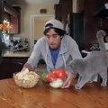 My salsa dancing kitten Celebrating National Tortilla Chip Day!
