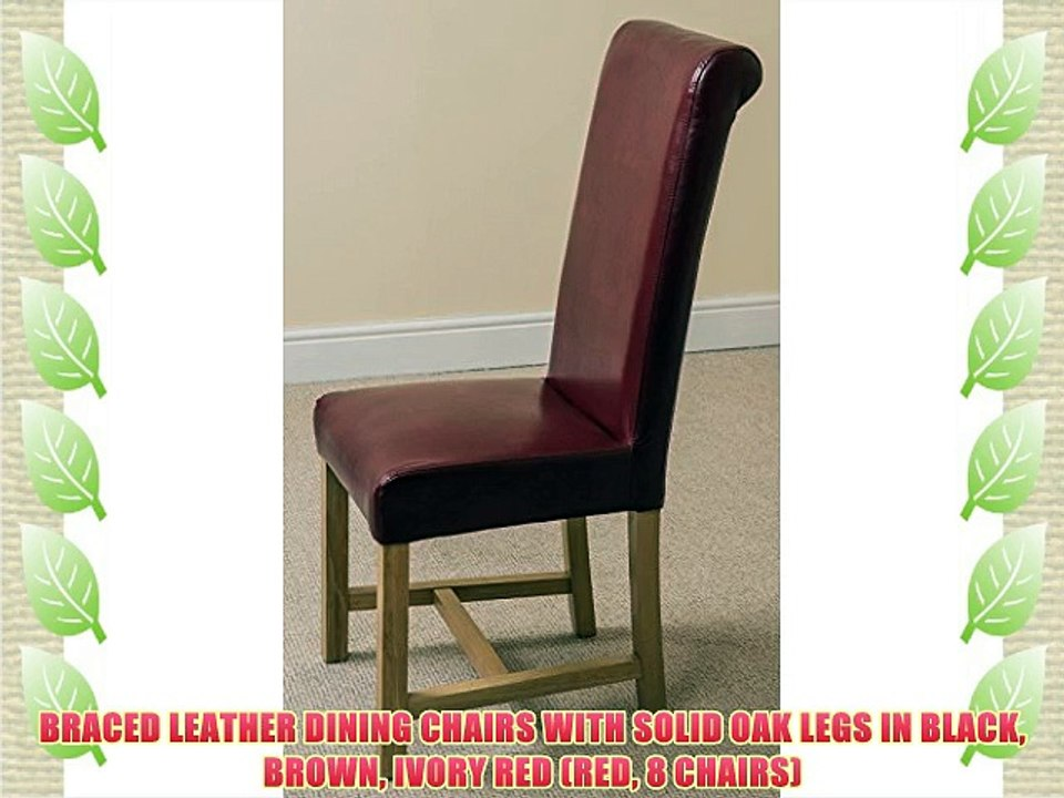 Awe Inspiring Braced Leather Dining Chairs With Solid Oak Legs In Black Andrewgaddart Wooden Chair Designs For Living Room Andrewgaddartcom