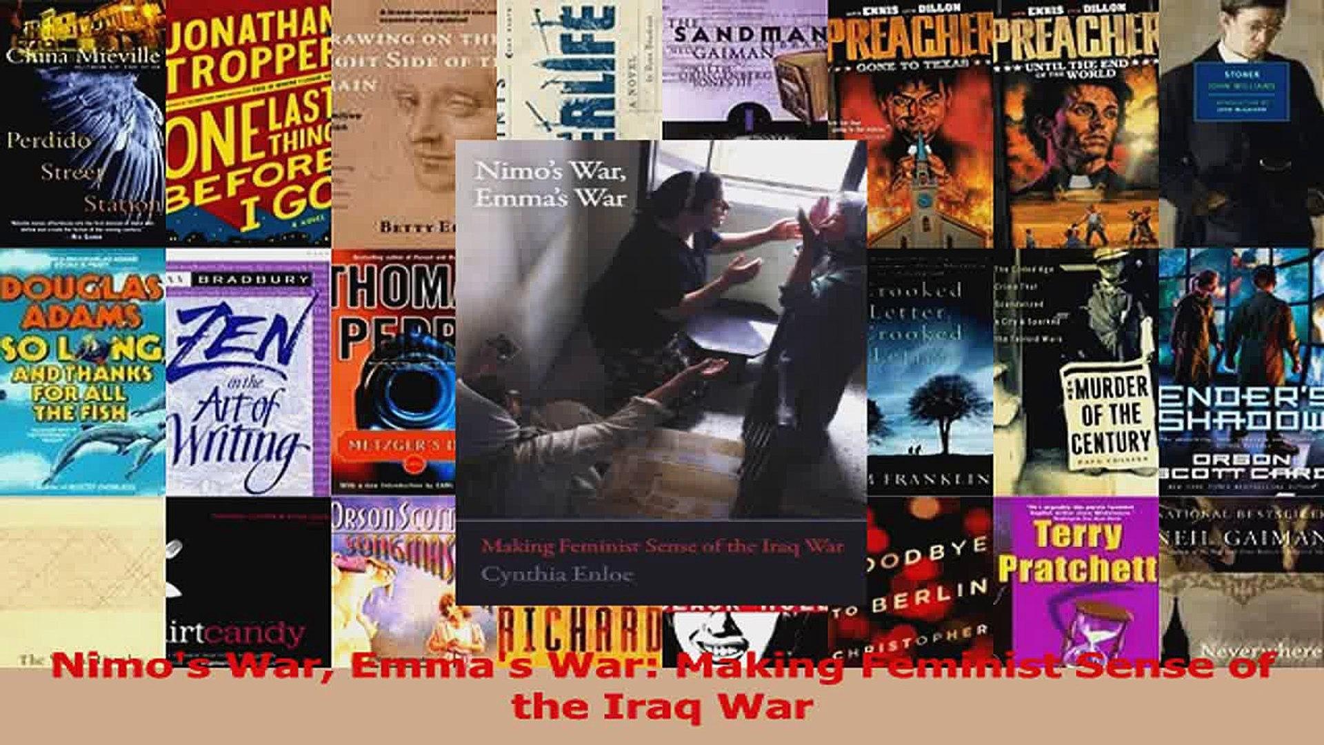PDF Download  Nimos War Emmas War Making Feminist Sense of the Iraq War Download Online