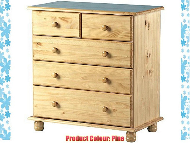 STRAND Solid Wood 6 Drawer Storage Chest Antique Pine