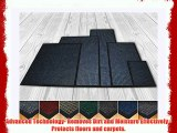 High Quality Deluxe Extra Large (100 X 150 cm) Blue Ribbed Doormats. Machine Washable Entrance
