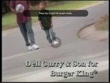Le joueur de NBA Stephen Curry et son papa dans une vieille pub Burger King