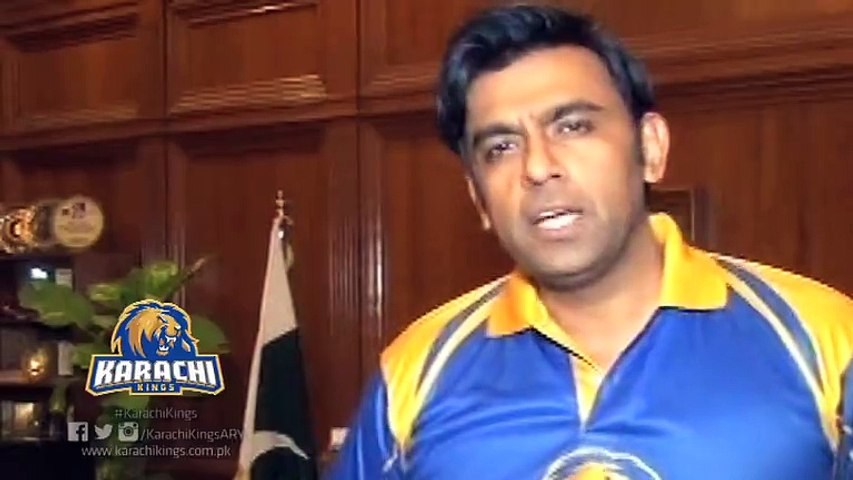 The Honorable Commissioner Karachi Mr. Syed Asif Hyder Shah supports Karachi Kings.