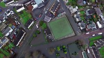 Drone shows huge scale of Scotland flooding