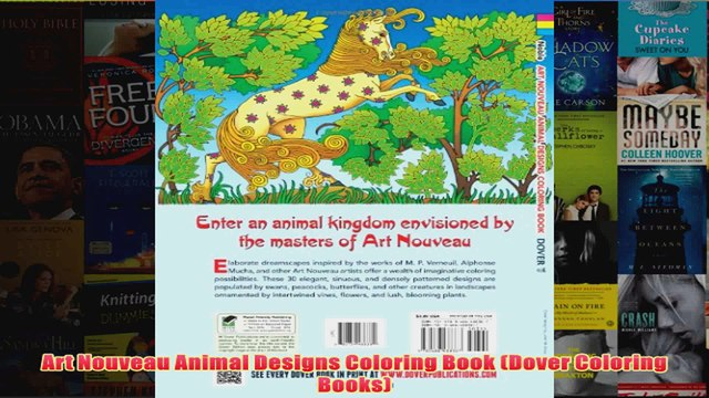 - Art Nouveau Animal Designs Coloring Book Dover Coloring Books - Video  Dailymotion