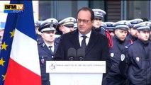 """Hollande rend hommage aux trois policiers tués en janvier 2015 """"morts pour que nous puissions vivre libres"""""""