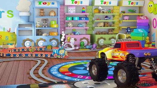 Мультфильм про машинки и паровозики. Учим цифры с ...