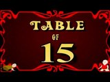 Learn 15x Table | Learn FIFTEEN Multiplication Tables For Kids | Fun And Learn Videos