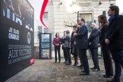 """""""Debout face à la barbarie"""" Jean-Christophe Cambadélis inaugure l'expo hommage aux victimes du terrorisme"""
