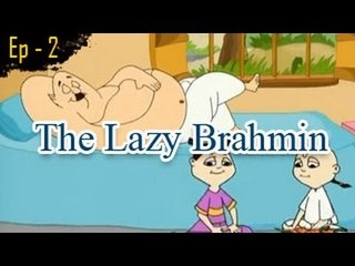 The Lazy Brahmin | Panchatantra Tales | English Animated Stories For Kids