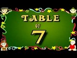 Learn Multiplication Table Of Seven - 7 x 1 = 1 | 7 Times Tables | Fun & Learn Video for Kids