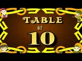 Learn Multiplication Table Of Ten - 10 x 1 = 10 | 10 Times Tables | Fun & Learn Video for Kids