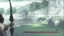 Extreme long distance bow and arrow Shadow of the Colossus