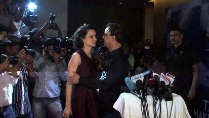 Vidhu Vinod Chopra PECKS Kangana Ranaut at screening of WAZIR