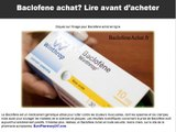 Baclofene Alcool