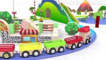 Dessins animés pour bébé en français. Le petit train et des animaux sauvages. Learn French  Fun Fan FUN Videos