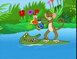 The Monkey And The Crocodile - Grandma Stories - Hindi Animated Stories For Kids , Animated cinema and cartoon movies HD Online free video Subtitles and dubbed Watch 2016