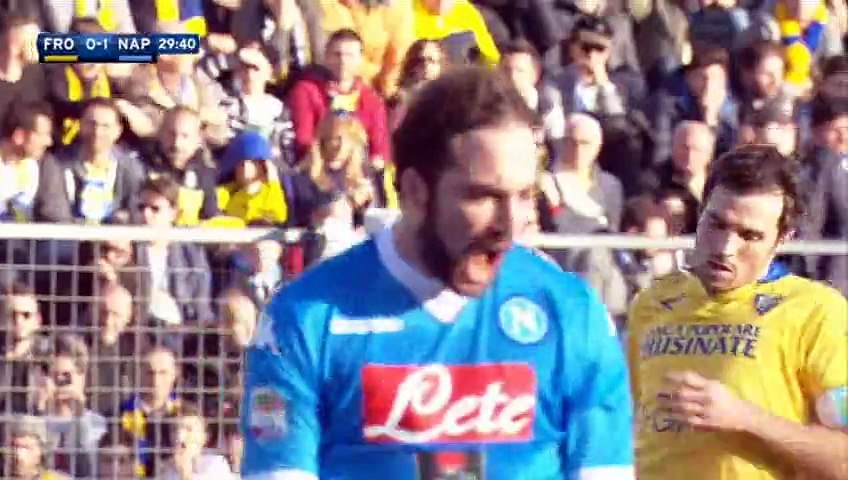 Gonzalo Higuaín Goal - Frosinone 0-2 Napoli - 10-01-2016