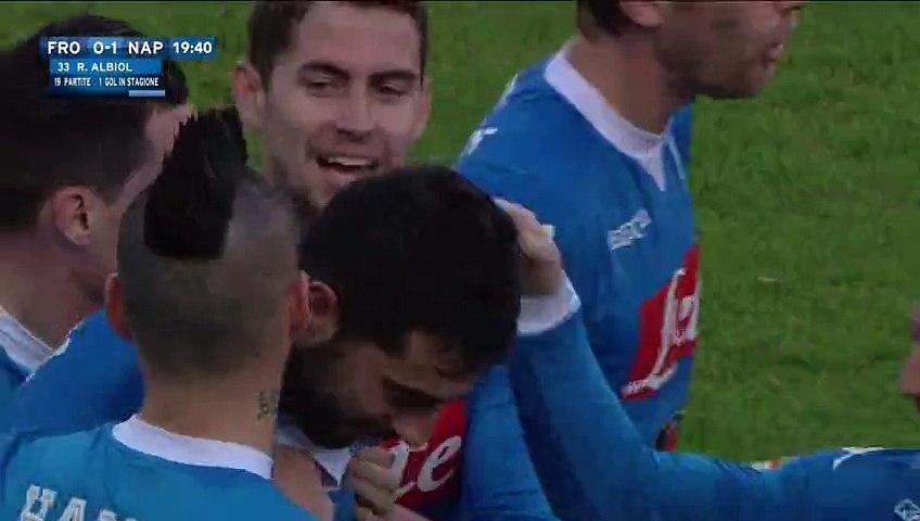 Raúl Albiol Goal - Frosinone 0-1 Napoli - 10-01-2016