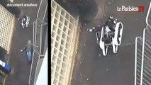 Les images du robot démineur s'approchant du corps de l'assaillant de Barbès