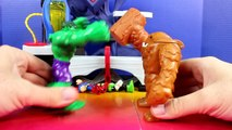 Imaginext Clay Face Brothers Attack Incredible Hulk Smash Brothers Superman And Green Lantern